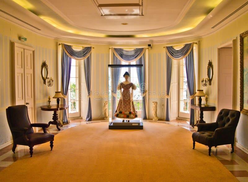 Zaal in het Paleis van Mon Repos, Korfu royalty-vrije stock foto's