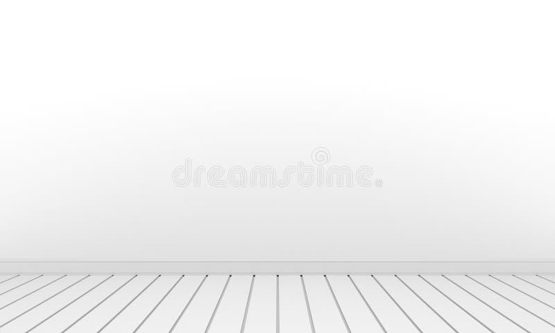 Zaal met de witte witte vloer van de muurruimte stock foto