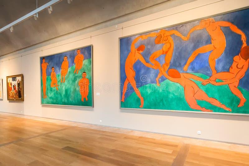 Zaal met Impressionistschilderijen Henri Matisse bij Kluis royalty-vrije stock foto's