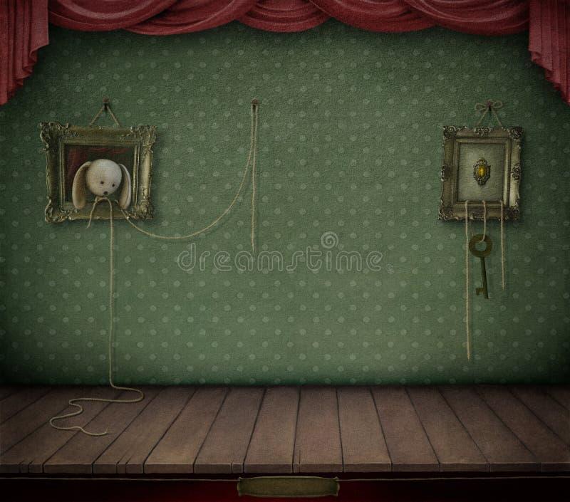 Zaal met kader. stock illustratie