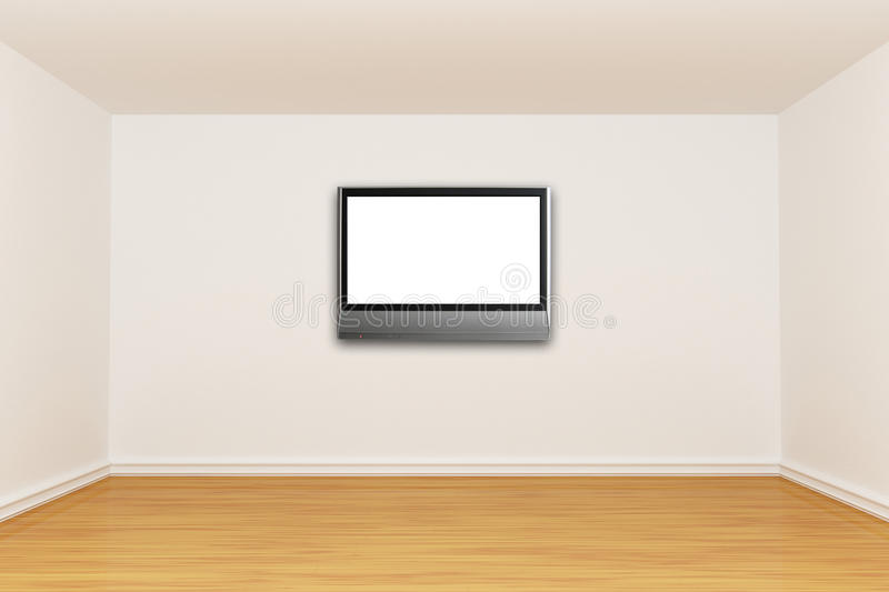 Zaal met LCD TV vector illustratie