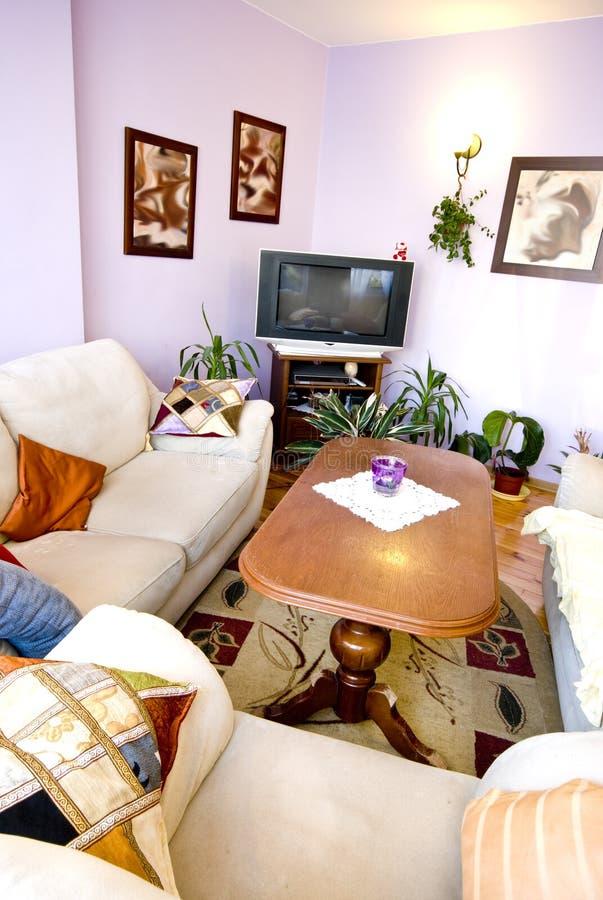 Zaal met meubilair royalty-vrije stock afbeeldingen
