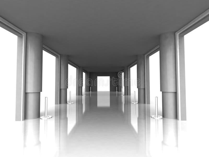 Zaal met pijlers vector illustratie