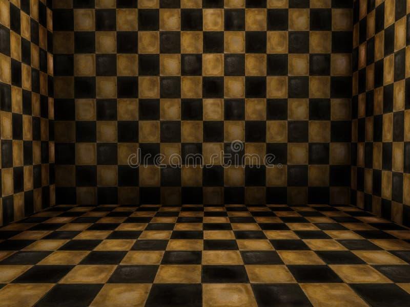 Zaal met tegels royalty-vrije illustratie