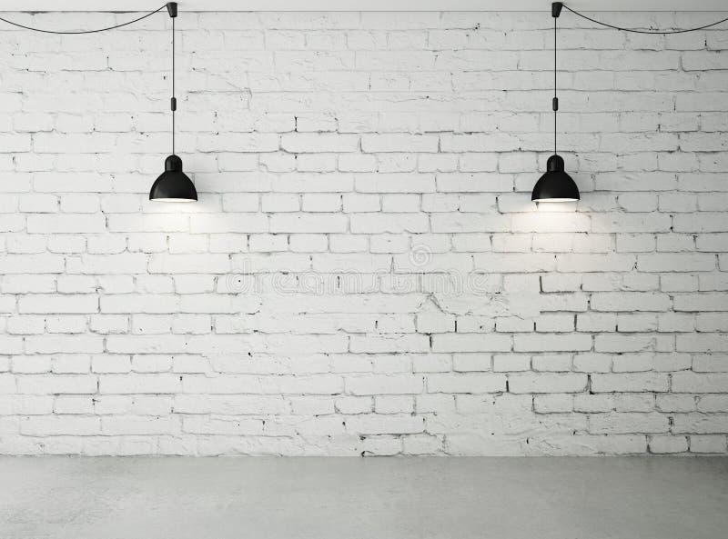 Zaal met twee lampen stock illustratie