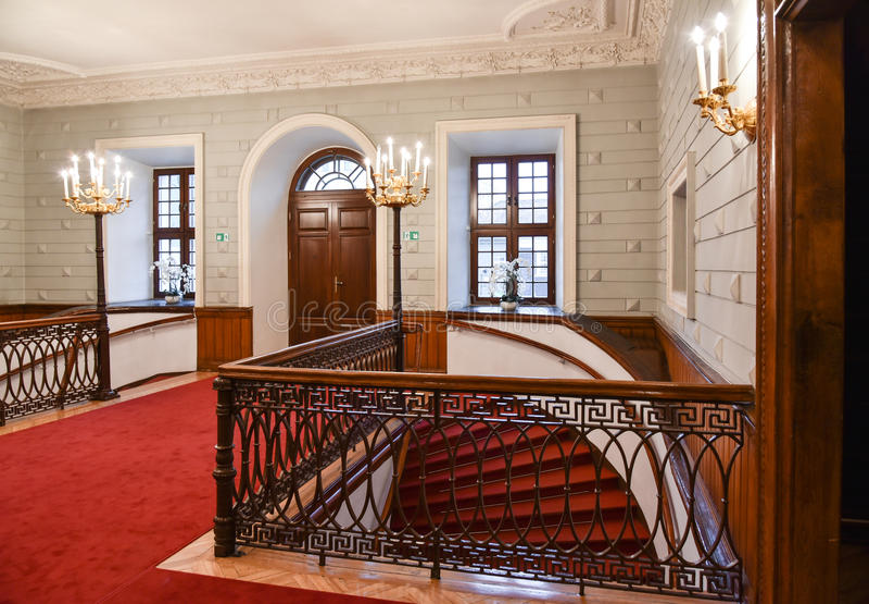 Zaal in paleis stock fotografie