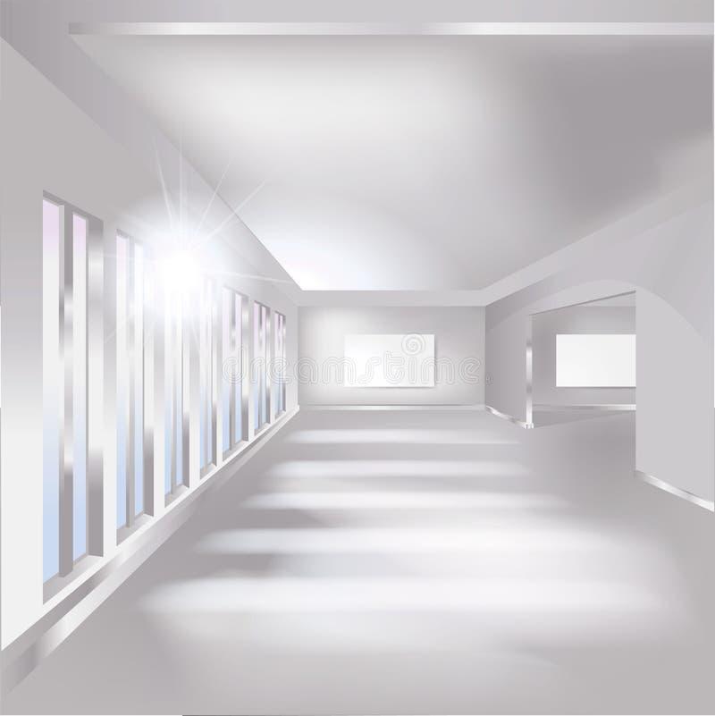 Zaal, tentoonstelling en galerij stock illustratie