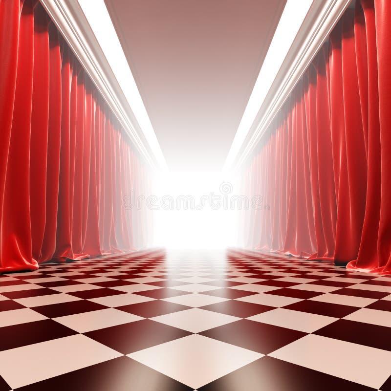 Zaal van bekendheid. stock illustratie