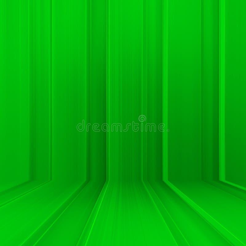 Zaal van de groene muur van de metaaltextuur stock foto's
