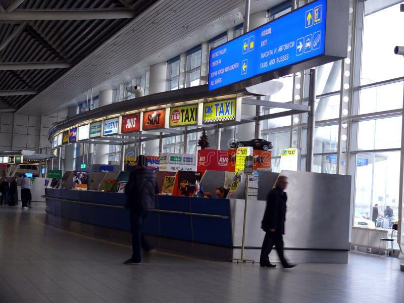 Zaal van de Luchthaven van Sofia stock foto