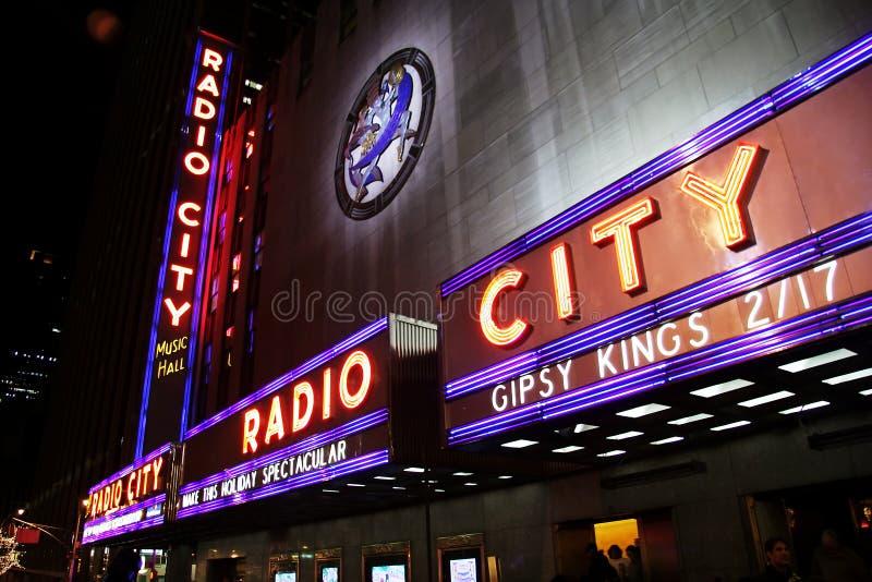 Zaal van de Muziek van de Stad van de Stad van New York de Radio royalty-vrije stock fotografie