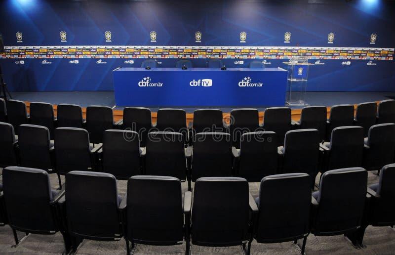 Zaal van de persconferentie bij CBF royalty-vrije stock afbeeldingen