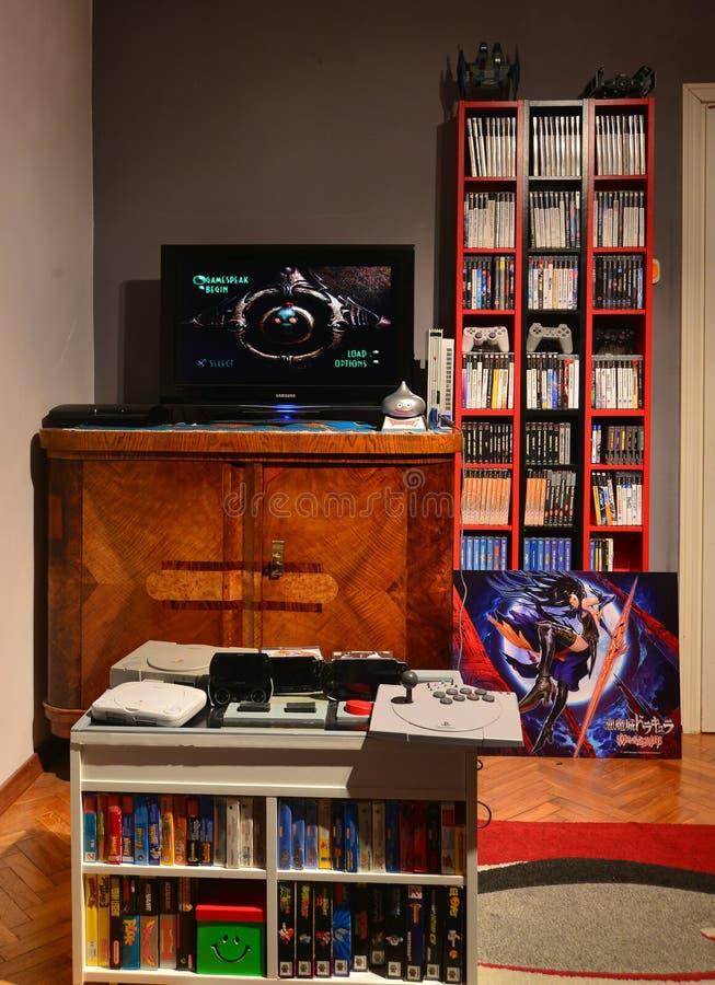Zaal van een Computer Gamer royalty-vrije stock fotografie