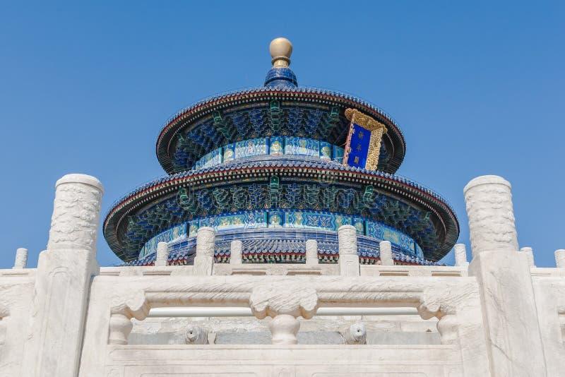 Zaal van Gebed voor Goede Oogst in Tempel van Hemel, Peking stock foto's