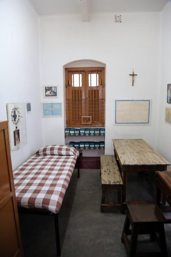 Zaal van Moeder Teresa bij Moederhuis in Kolkata stock fotografie
