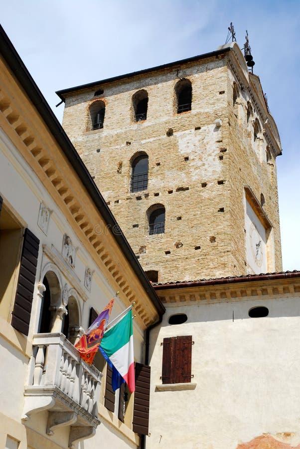 Zaal van Portobuffolè in de provincie van Treviso in Veneto (Italië) royalty-vrije stock fotografie
