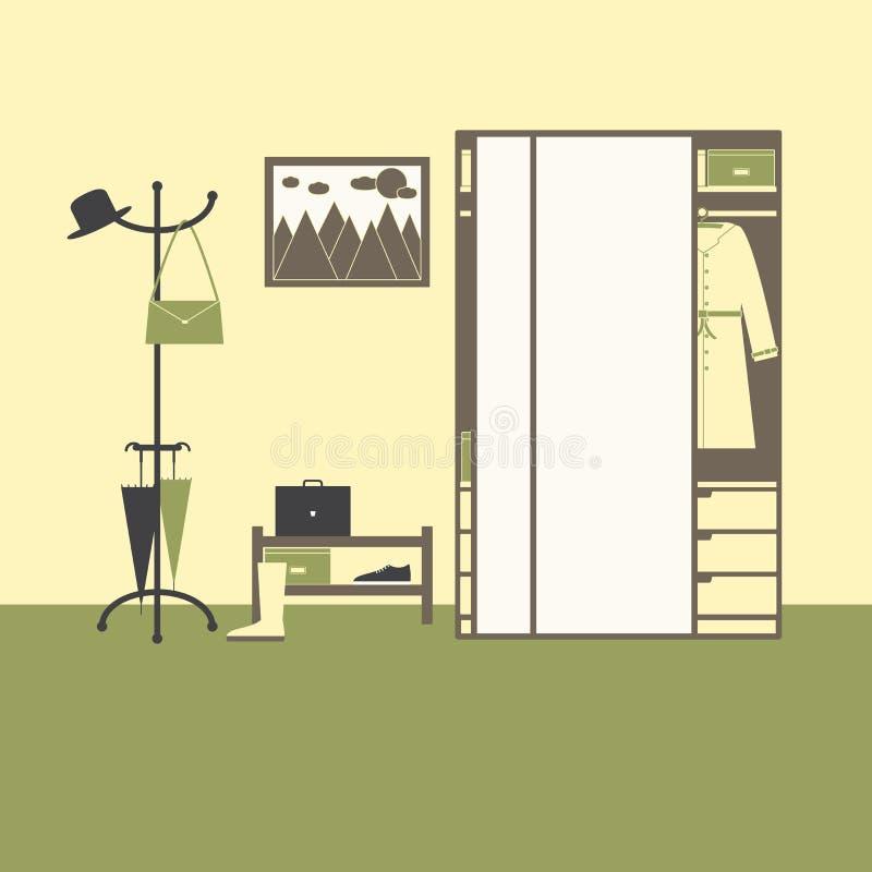 Zaalbinnenland vector illustratie