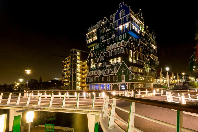 Innhotel Zaandam, The Netherlands - based on traditional houses stock images