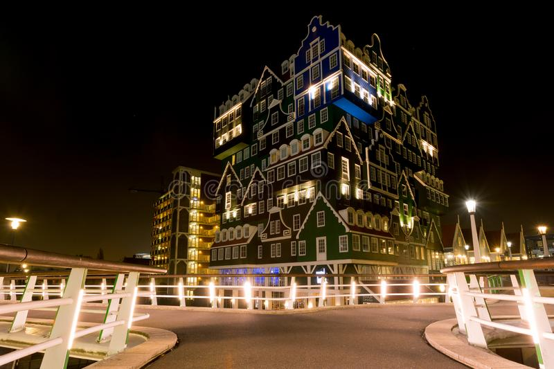 Innhotel Zaandam, The Netherlands - based on traditional houses stock photos