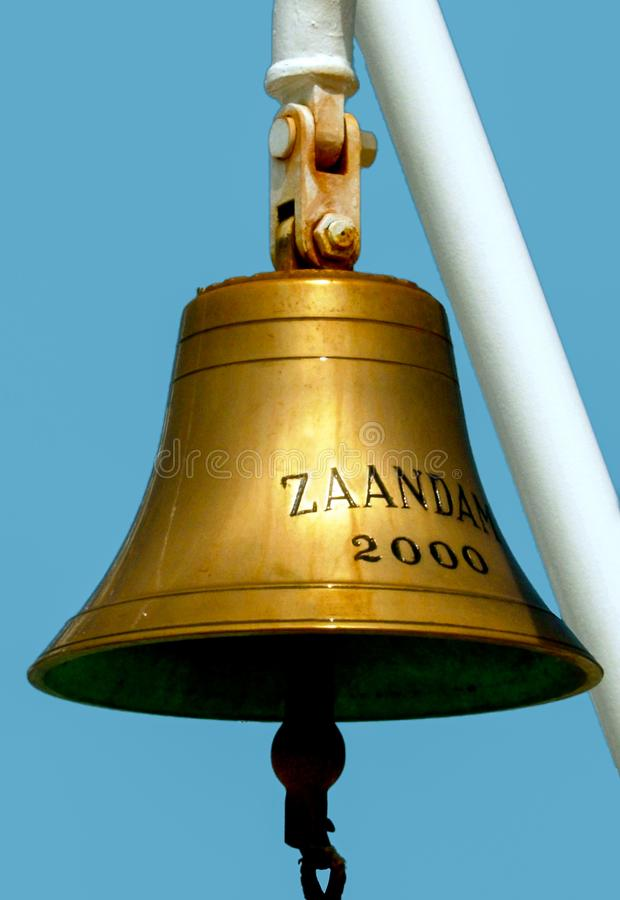 Zaandam Ship Bell royalty free stock image