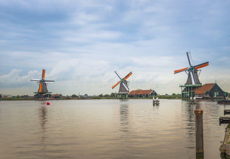 Zaanse Schans in Holland royalty-vrije stock foto's