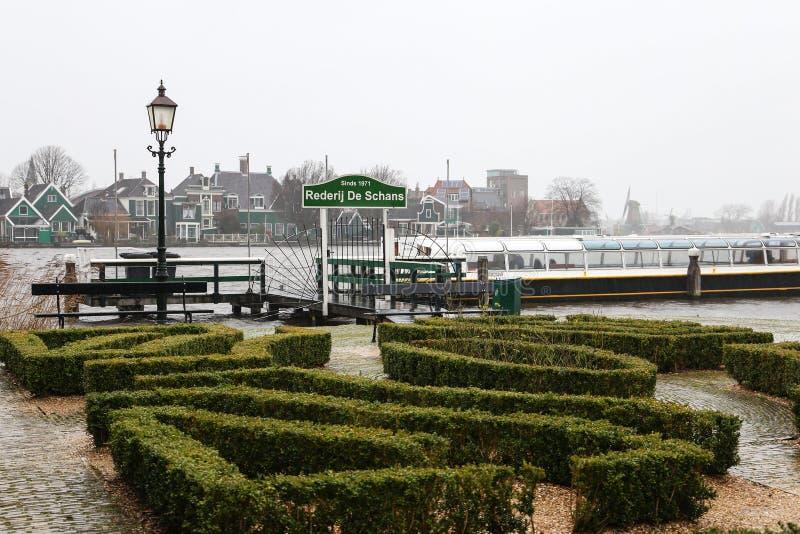 Zaanse Schans landscapes stock image