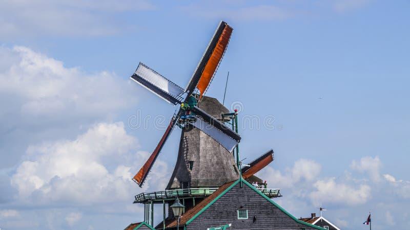 Zaanse Schans, moulins à vent photo stock