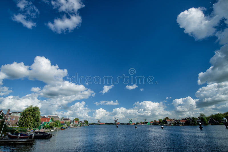 Zaanse Schans - Windmills stock photos