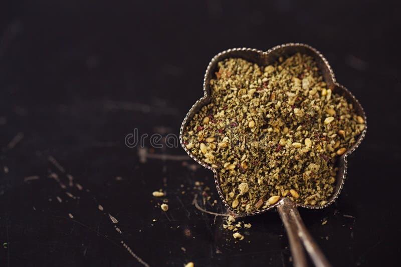 Zaatar香料混合 库存图片