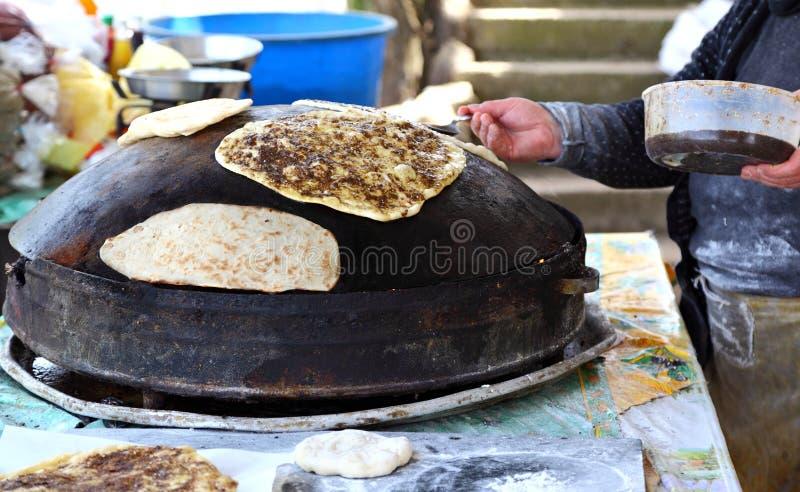 Zaatarbrood, Libanon stock foto