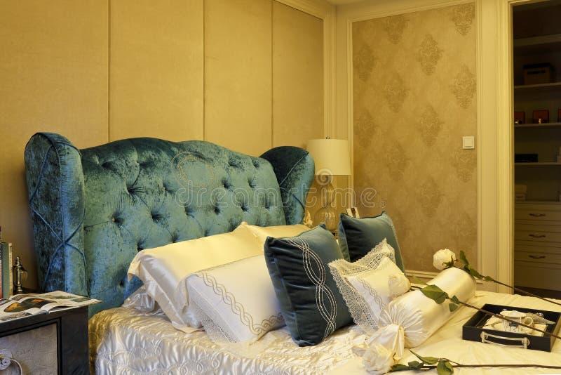 Zaawansowany sypialnia przykładu pokój obraz stock
