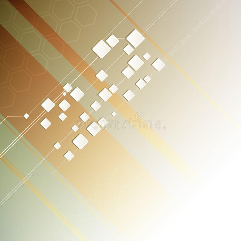 zaawansowany technicznie abstrakcjonistyczny tło ilustracja wektor