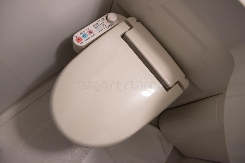 Zaawansowany Technicznie Japońska bidet toaleta fotografia royalty free