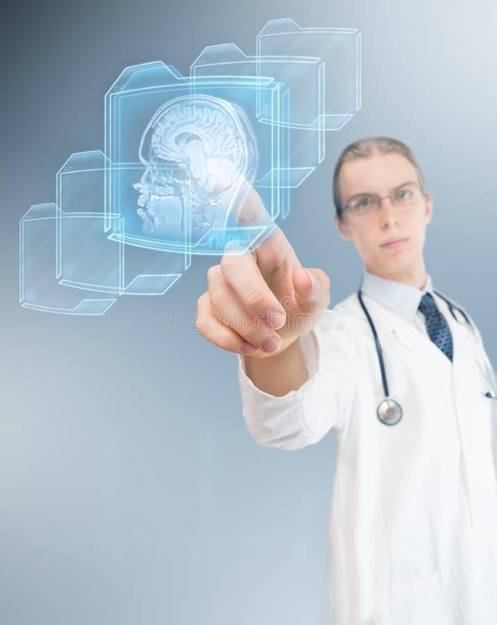 Zaawansowany technicznie lekarka zdjęcie stock