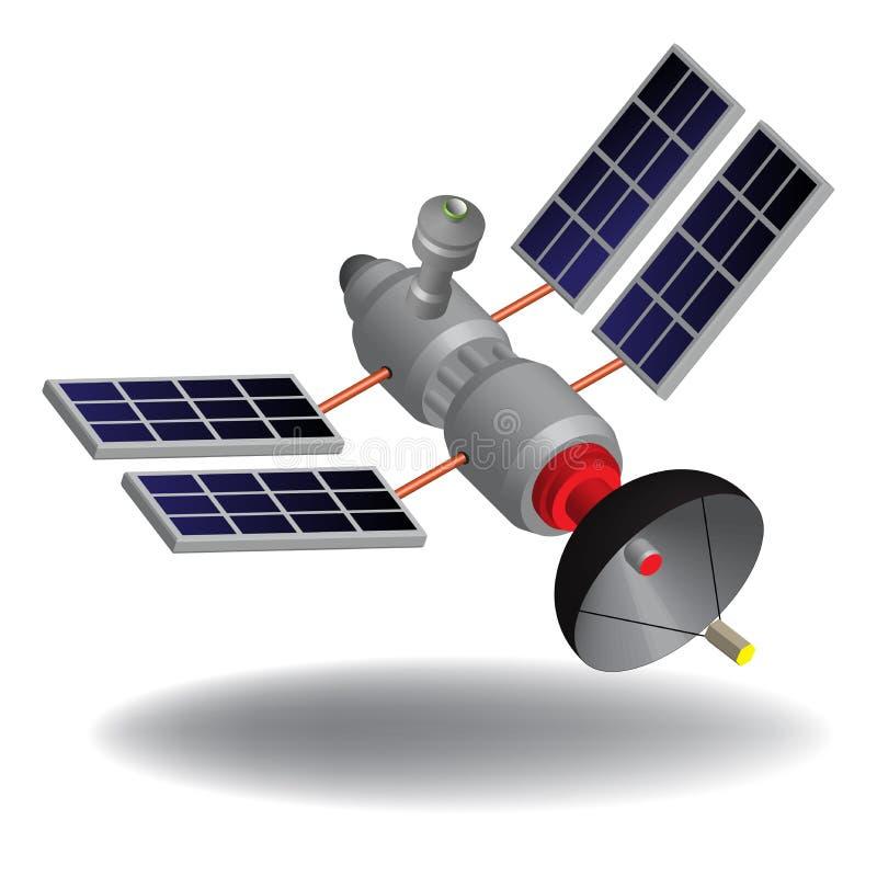 Zaawansowany technicznie satelita ilustracji