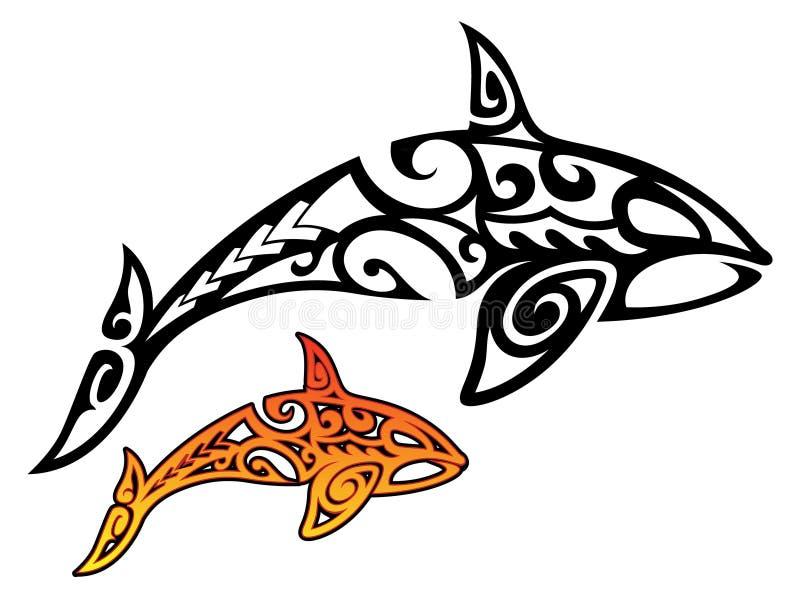 Zabójcy wieloryb Plemienny royalty ilustracja