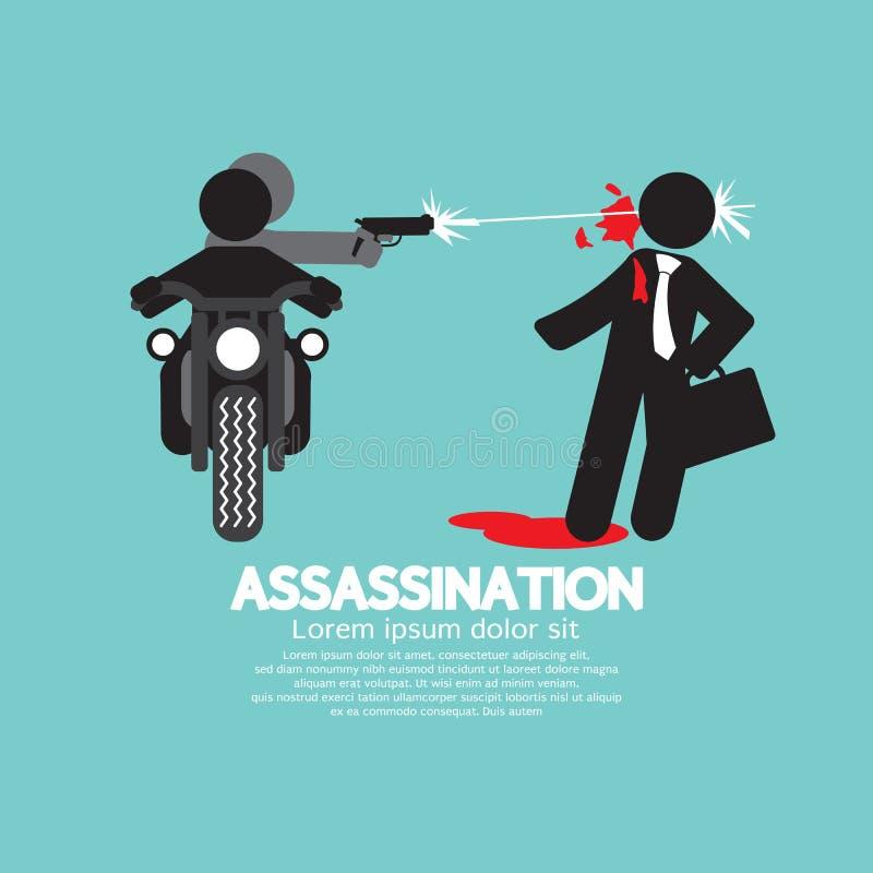 Zabójstwo strzelanina Od motocyklu ilustracji