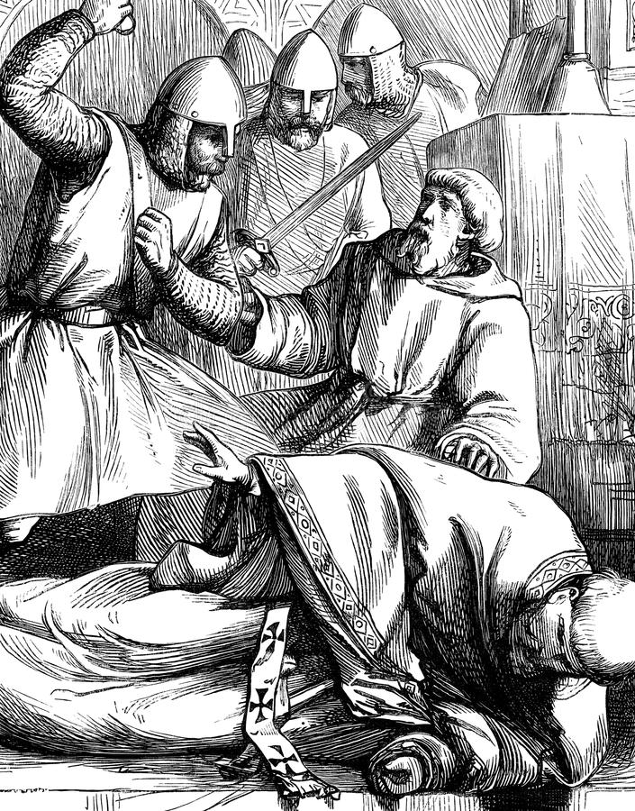 Zabójstwo Thomas Becket royalty ilustracja