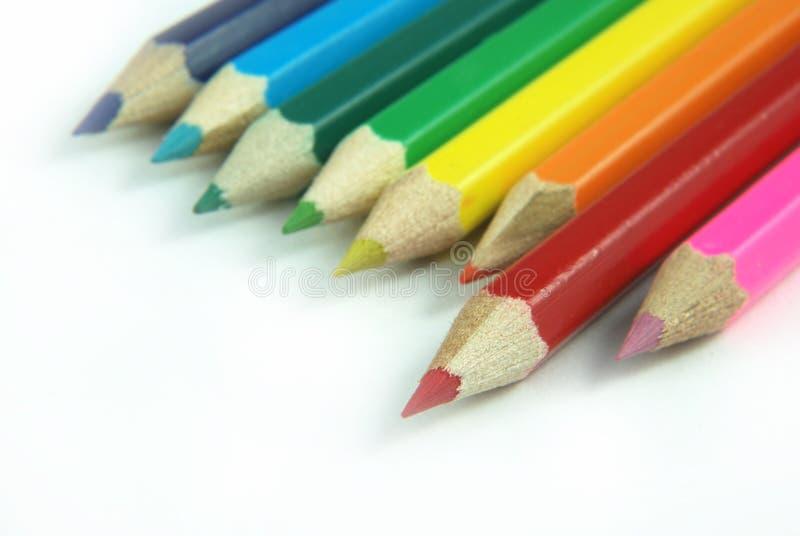 zabarwienie ołówków do szkoły obraz stock