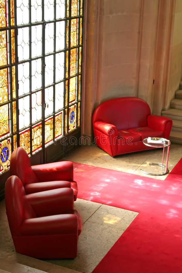 zabarwienie szkła kanapy obrazy royalty free