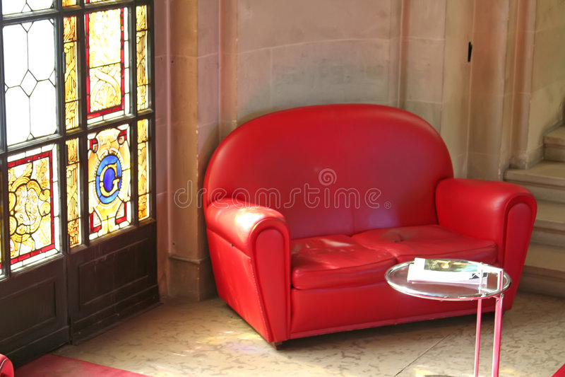 zabarwienie szkła kanapy obrazy stock