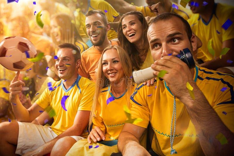 Zabaw fan w stadium arenie obraz royalty free