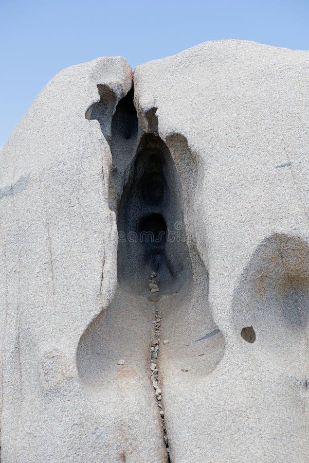 Zabaw kamienne formacje przy Capo Testa, Sardinia zdjęcia royalty free