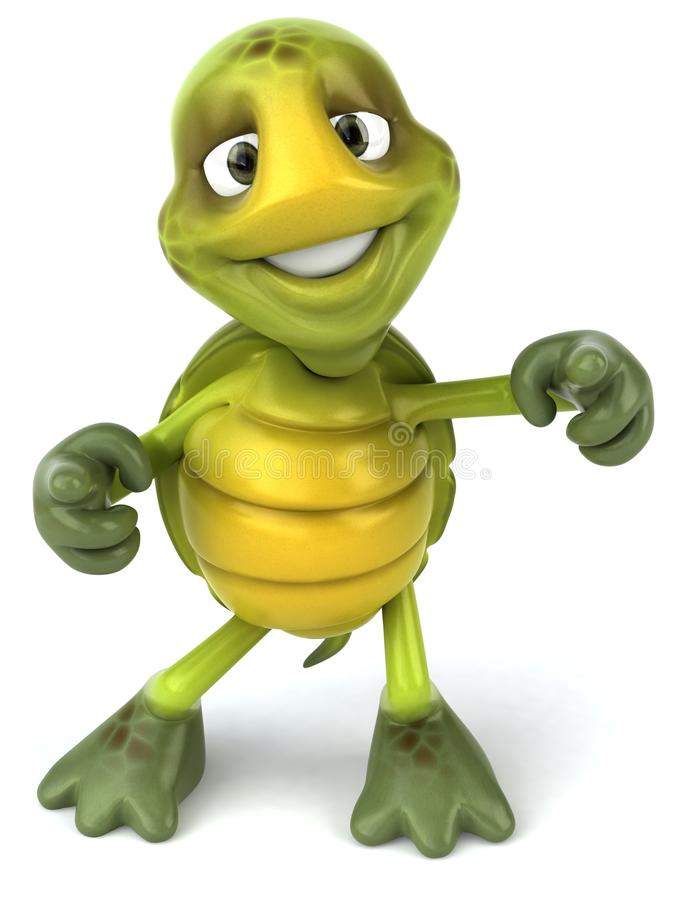 zabawa żółw ilustracja wektor