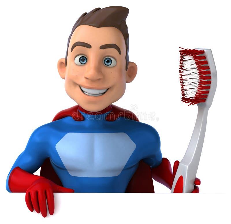 Download Zabawa bohater ilustracji. Ilustracja złożonej z ząb - 53788052