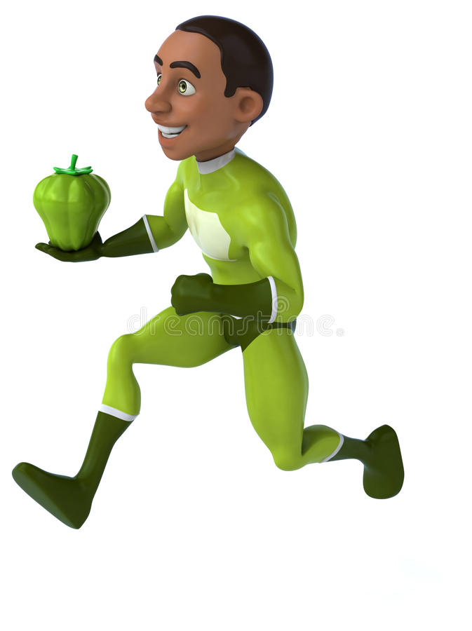 Download Zabawa bohater ilustracji. Ilustracja złożonej z bohaterzy - 53788066