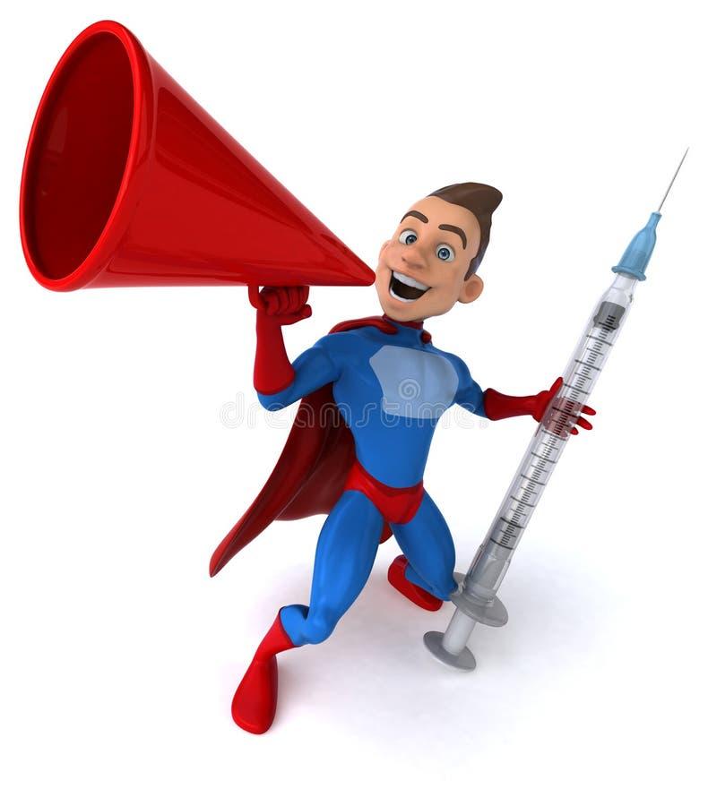 Download Zabawa bohater ilustracji. Ilustracja złożonej z strzykawka - 53788244