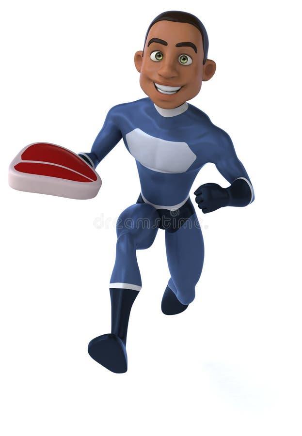 Download Zabawa bohater ilustracji. Ilustracja złożonej z władza - 53788299