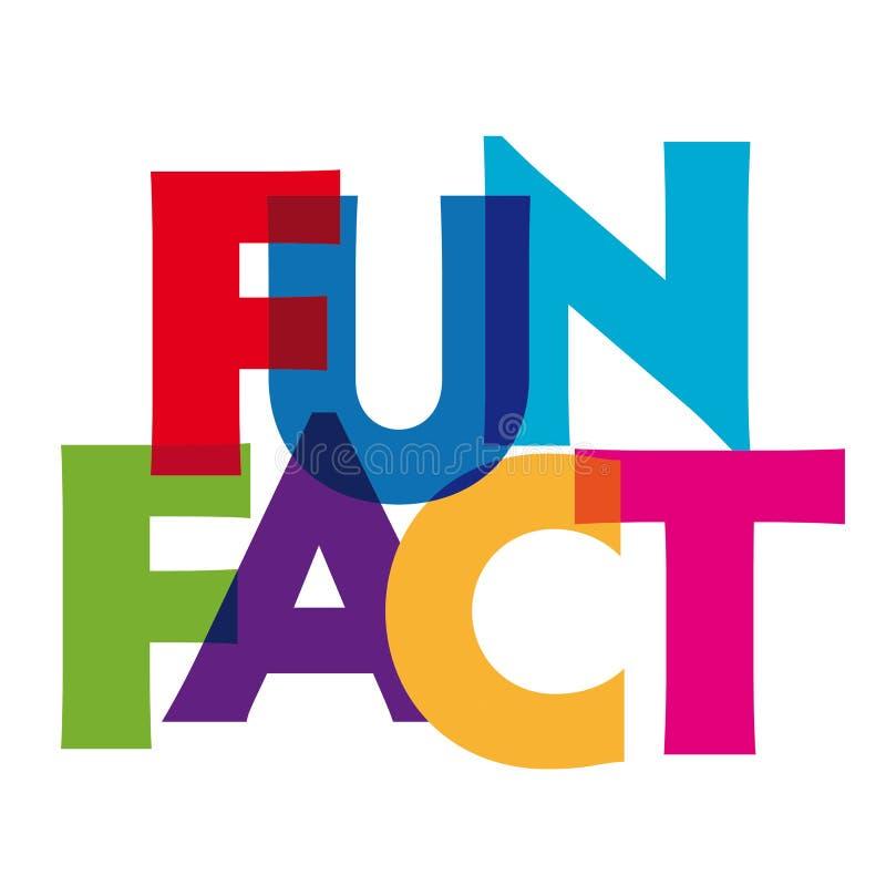 Zabawa fact - wektor stylizowana kolorowa chrzcielnica ilustracji