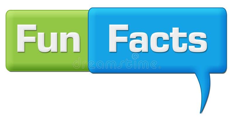 Zabawa fact Zielenieją Błękitnego komentarza symbol ilustracja wektor